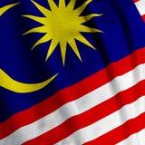 Malaysian Flag Closeup Stock Photography