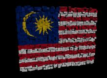 Malaysian flag on cubes Stock Images