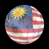 Malaysian flag on currency Royalty Free Stock Photo