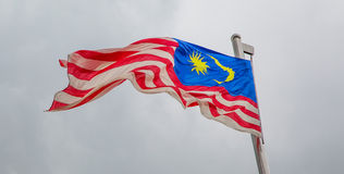 Malaysian Flag II Royalty Free Stock Photography