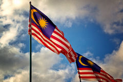 Malaysian Flag Stock Photo