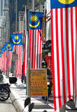 Malaysian Flags On  Stores Stock Images