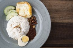 Malaysian food/cuisine nasi lemak royalty free stock photo