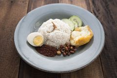 Malaysian food/cuisine nasi lemak stock photos