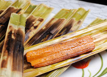 Malaysian food otak otak Stock Photos