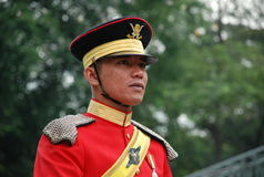 Malaysian guard. Or soldier with a uniform Royalty Free Stock Images