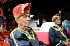 Malaysian man from ethnic Dusun Lotud in traditional costume Royalty Free Stock Photos
