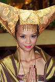 Malaysian Minang Traditional Dress Stock Photo