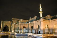 Malaysian mosque at night Stock Images