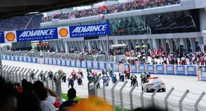 Malaysian Moto GP 2013 - Race Start Stock Photography