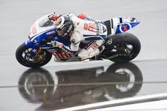 Malaysian MotoGP 2009: Jorge Lorenzo Stock Images