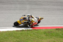 Malaysian MotoGP 2011. SEPANG,MALAYSIA-OCT.21:Scott Redding of Marc VDS Racing Team in action during practice session of Shell Advance Malaysian Moto GrandPrix Stock Image