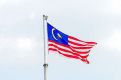 Malaysian national flag Royalty Free Stock Image