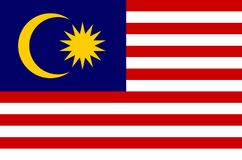 Malaysian national flag, official flag of malaysia accurate colors. Flag of malaysia Royalty Free Stock Photo