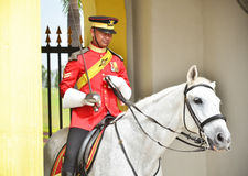 Malaysian National Palace guards Royalty Free Stock Photography