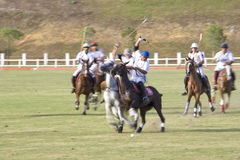 Malaysian Open Polo Action (Blurred) Stock Images