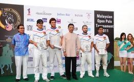 Malaysian Open Polo Tournament 2011. Malaysian Open Polo Tournament, held in Equestrian Club Putrajaya April 20-30, 2011. The Crown Prince Abdullah of Pahang stock photography