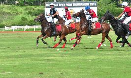 Malaysian Open Polo Tournament 2015 Royalty Free Stock Photo