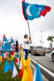 Malaysian Opposition Party Supporters stock image