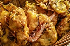Malaysian Prawn fritters Stock Photos