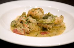 Malaysian prawn green curry Royalty Free Stock Photos