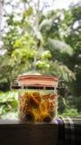 Malaysian Raya festivity cake, pineapple tart in jar Stock Photos