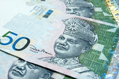 Malaysian Ringgit. Close up on 50 Ringgit Royalty Free Stock Image