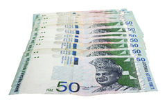 Malaysian ringgit. Currencies at malaysia, denomination of RM50 Royalty Free Stock Image