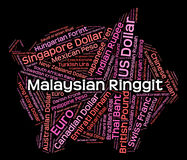 Malaysian Ringgit Means Exchange Rate And Foreign Stock Photography