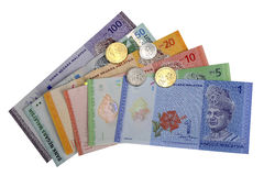 Malaysian Ringgit. The Malaysian ringgit (plural: ringgit; currency code MYR; formerly the Malaysian dollar) is the currency of Malaysia. It is divided into 100 Stock Photo