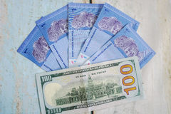 Malaysian ringgits and american dollar usd. Foreign currency exchange Stock Image