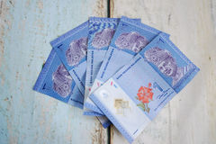 Malaysian ringgits. Foreign currency exchange Stock Image