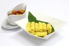 Malaysian Roti Jala on white plate Stock Images