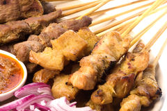 Malaysian Satay Stock Photos