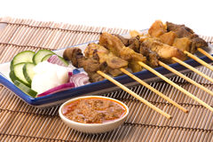 Malaysian Satay Stock Photo