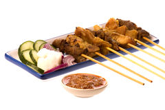Malaysian Satay Royalty Free Stock Images