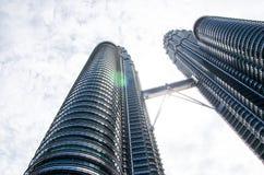 Malaysian skyscraper, KLCC. Kuala Lumpur, Malaysia. Kuala Lumpur Malaysia – December 21, 2013. Malaysian skyscraper KLCC Royalty Free Stock Image