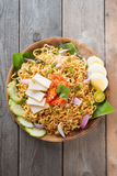 Malaysian style maggi goreng mamak Stock Photos