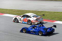 Malaysian Super Series Car Race Action Royalty Free Stock Image