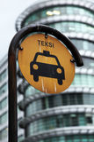 Malaysian taxi sign Stock Images