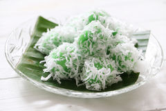 Malaysian traditional kuih Ondeh Ondeh or Kelepon for Indonesian Stock Photo