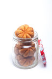 Malaysian Traditional Mini Sponge Cake in a jar Stock Photography