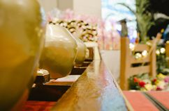 Malaysian traditional music instrument called Gamelan stock photography