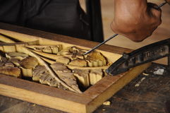Malaysian traditional wood carving from Terengganu Royalty Free Stock Photo