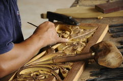 Malaysian traditional wood carving from Terengganu Stock Image