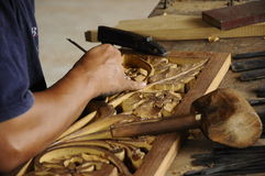 Malaysian traditional wood carving from Terengganu Royalty Free Stock Photography