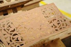 Malaysian traditional wood carving from Terengganu Stock Photos