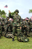 Malaysian Wataniah Army in the National Day Stock Images