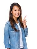 Malaysian woman with idea Royalty Free Stock Photo