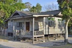 Malaysian wooden beach house Stock Photos